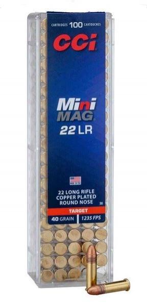 CCI .22lr 40grs. Mini Mag
