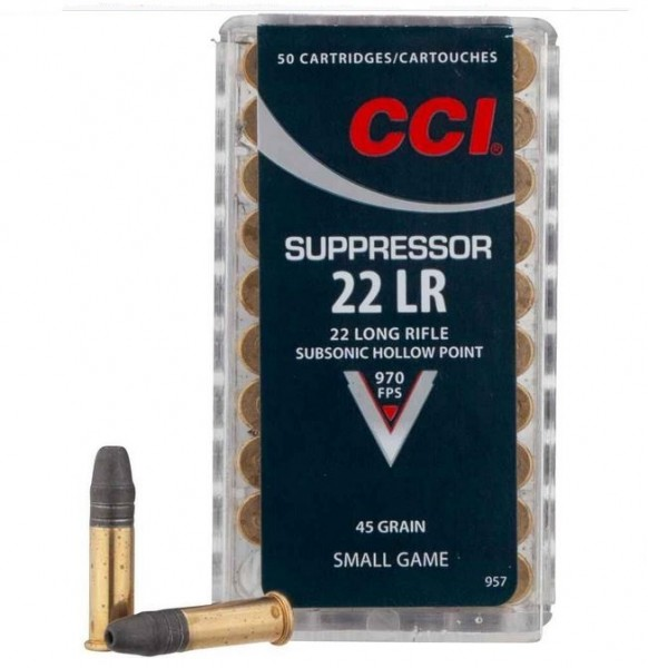 CCI .22lr 45grs. Subsonic Hollow Point