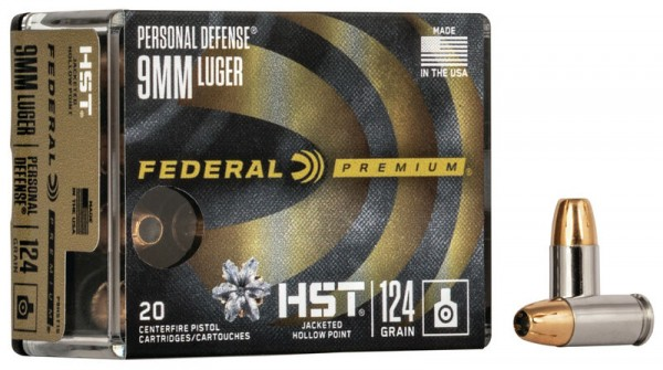 Federal 9mm 124grs HST HP